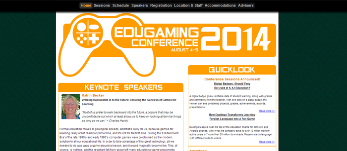Edugaming Conference 2014